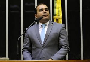 O deputado federal Marcelo Freitas (PSL-MG), na tribuna da Câmara Foto: Cleia Viana/Câmara dos Deputados/13-03-2019