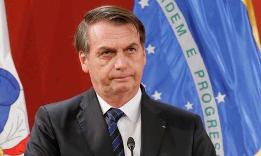 Bolsonaroreafirma que não houve um golpe de Estado, mas um movimento político legítimo Foto: Rodrigo Garrido / Reuters