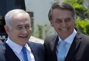 Netanyahu e Bolsonaro: aproximação Foto: LEO CORREA / AFP/28-12-2018