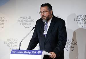 O ministro das Relações Exteriores, Ernesto Araújo Foto: Alan Santos / Presidência da República/ 23-2-2019