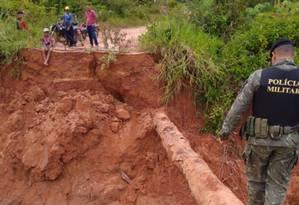 Sete pontes foram destruídas após romprimento de barragem em Rondônia Foto: Divulgação