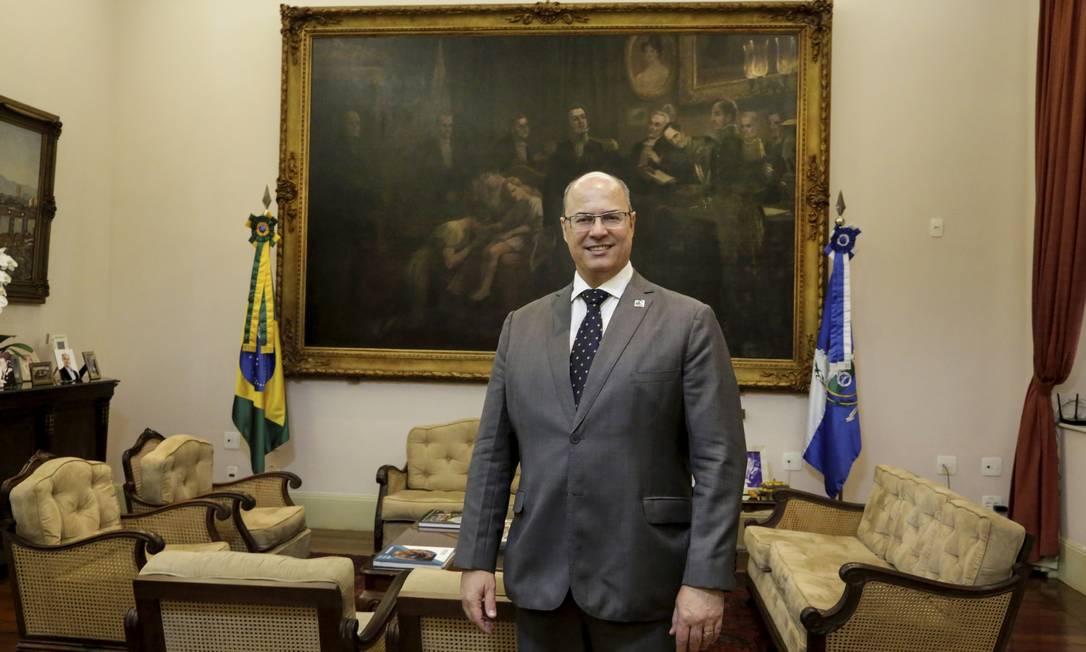 Entrevista com Wilson Witzel, governador do Estado do Rio de Janeiro, no Palácio Guanabara Foto: Marcos Ramos / Agência O Globo