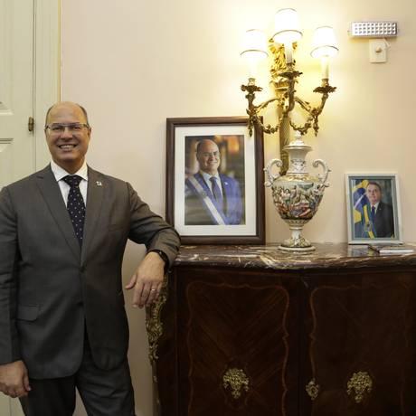 Governador Wilson Witzel no Palácio Guanabara . Foto Marcos Ramos / Agencia O Globo. Foto: Marcos Ramos / Agência O Globo