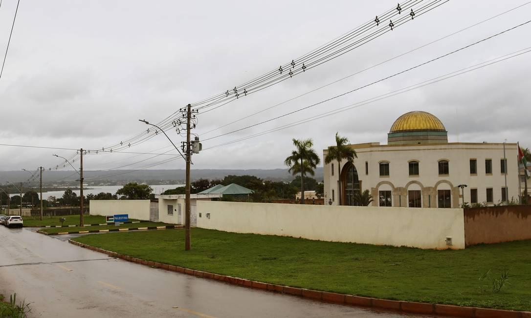 Embaixada da Palestina no Setor de Embaixadas Norte em Brasília Foto: Jorge William / Agência O Globo