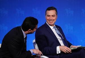 Moro, Barroso e Dellagnol lançam livro sobre a Lava-Jato em SP Foto: Marcelo Chello / Agência O Globo