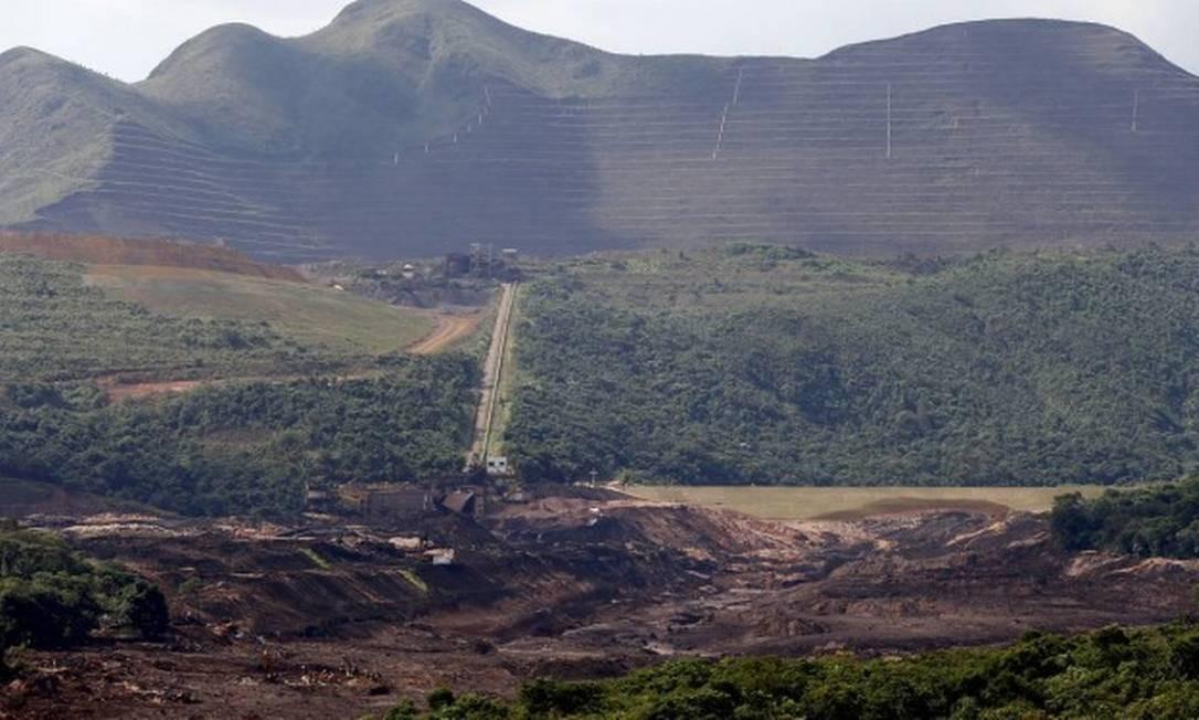 Mina do Córrego do Feijão, onde barragem se rompeu na tragédia de Brumadinho (MG), em janeiro Foto: Agência O Globo