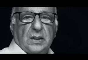Ator Paulo Amaral foi o protagonista do vídeo pró-golpe divulgado em canais de WhatsApp do Palácio do Planalto Foto: Reprodução