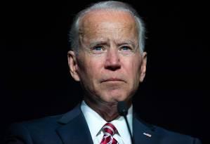 Ex-vice-presidente dos EUA, Joe Biden durante jantar com democratas Foto: SAUL LOEB / AFP/16-03-2019