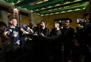 O porta-voz Otávio Rêgo Barros em Israel nesta terça-feira, 2 Foto: Alan Santos / Presidência