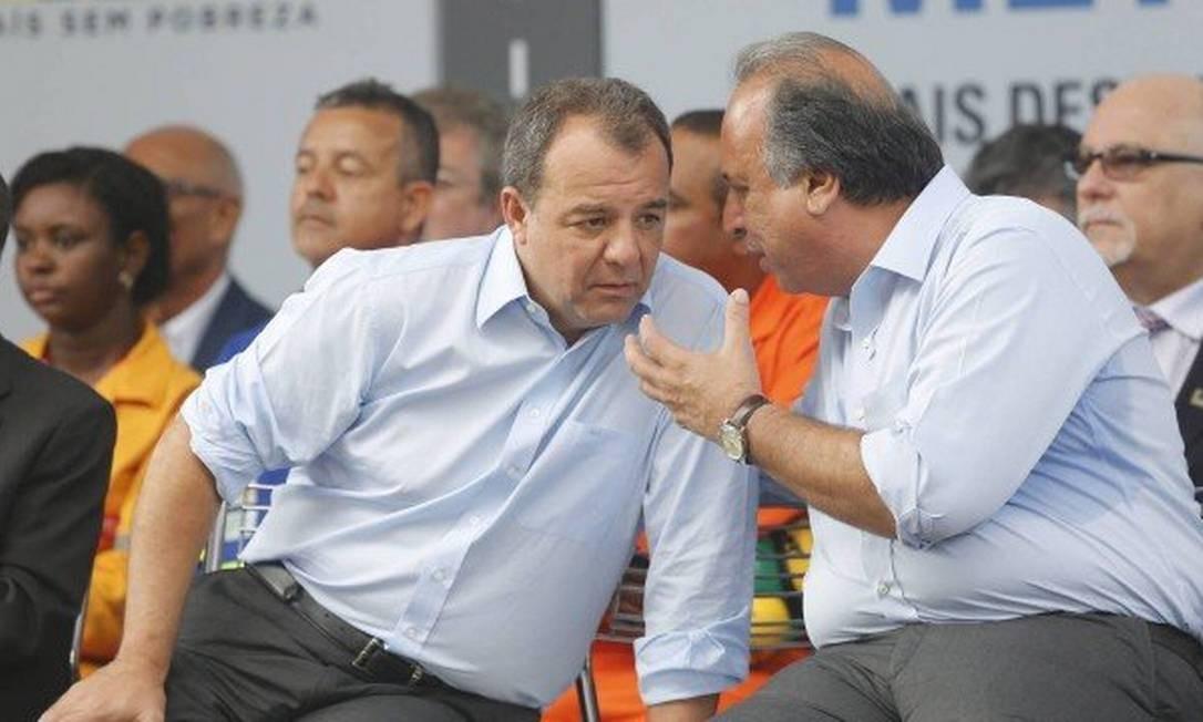 Os ex-governadores Sérgio Cabral e Fernando Pezão Foto: Pablo Jacob / Agência O Globo