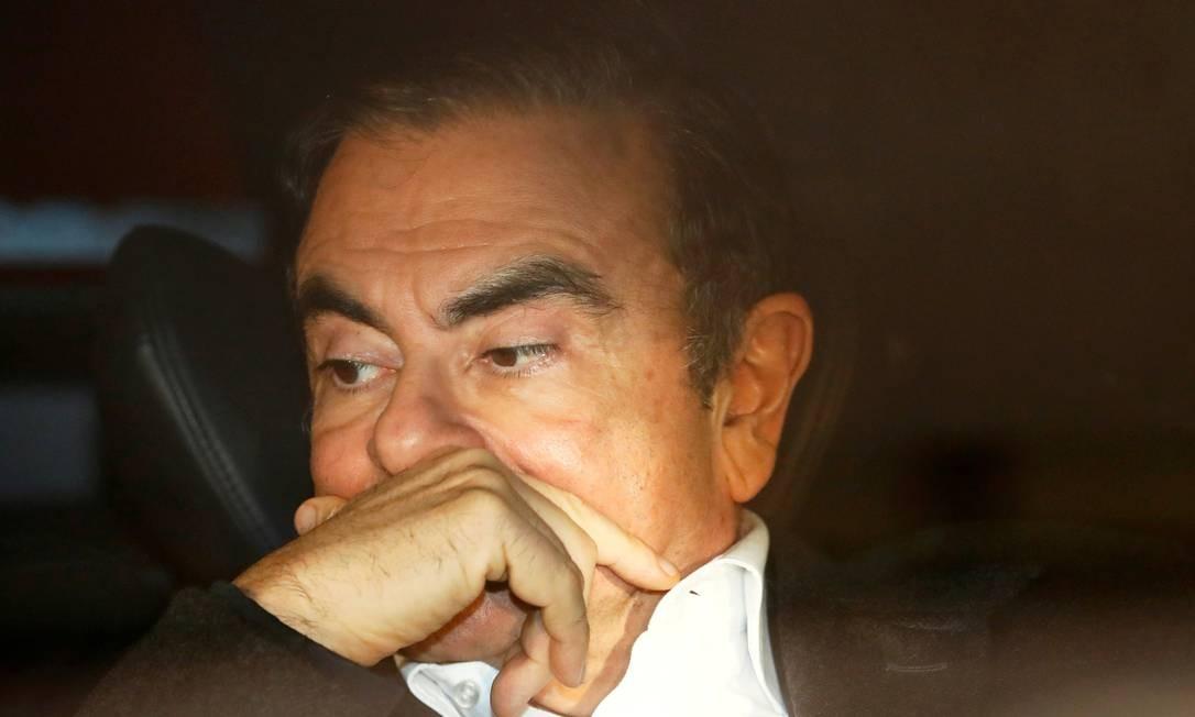 Carlos Ghosn após sair da prisão sob fiança: novas alegações. na França. Foto: Issei Kato / REUTERS