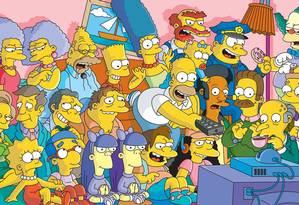 Os Simpsons: arte inspirada neles foi leiloada por milhões de dólares. Foto: Divulgação