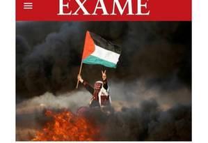 Tuíte de Flavio Bolsonaro sobre o Hamas Foto: Reprodução