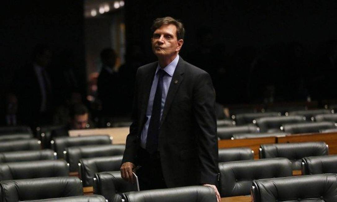 Crivella no Congresso Nacional em 2016, quando ainda era senador Foto: Ailton de Freitas / Agência O Globo