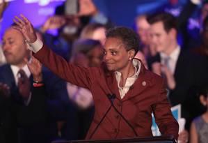Lori Lightfoot é uma ex-promotora federal e advogada de 56 anos Foto: SCOTT OLSON / AFP
