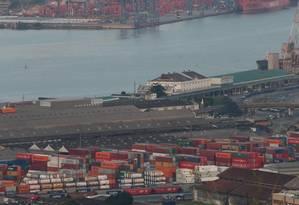 Porto de Santos, em São Paulo Foto: Marcos Alves / Agência O Globo
