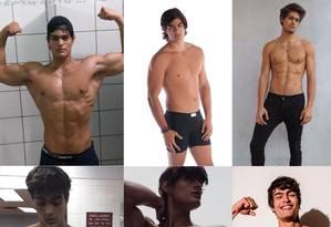 A transformação no corpo de Iago Botelho Foto: Arquivo Pessoal