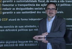 O economista Bernard Appy não vê possibilidade de redução de carga tributária em curto praza Foto: Marcos Alves/19-06-2018