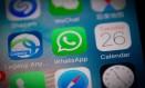 Whatsapp no celular Foto: NICOLAS ASFOURI / AFP