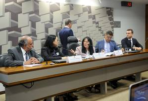 Integrantes da CPI de Brumadinho ouvem funcionários da Vale, Tractebel Engineering e Tüv Süd Brasil Foto: Jane de Araújo / Jane de Araújo/Agência Senado