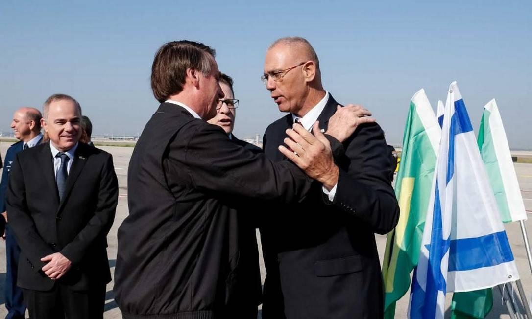 Shelley e Bolsonaro em Israel: relação próxima Foto: Arquivo pessoal