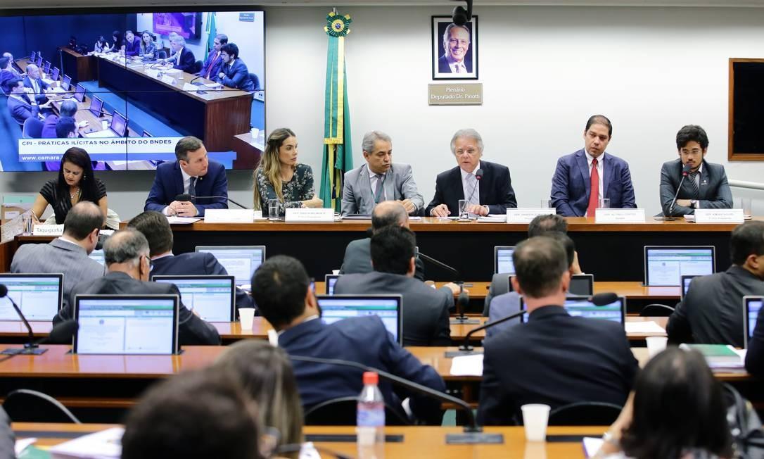 Sessão da CPI do BNDES na Câmara dos Deputados Foto: Divulgação/ Câmara