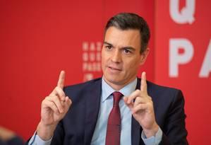 """""""Na Espanha e na Europa todas as opções não estão sobre a mesa"""", diz Pedro Sánchez sobre a Venezuela Foto: EVA ERCOLANESE / Eva Ercolanese"""
