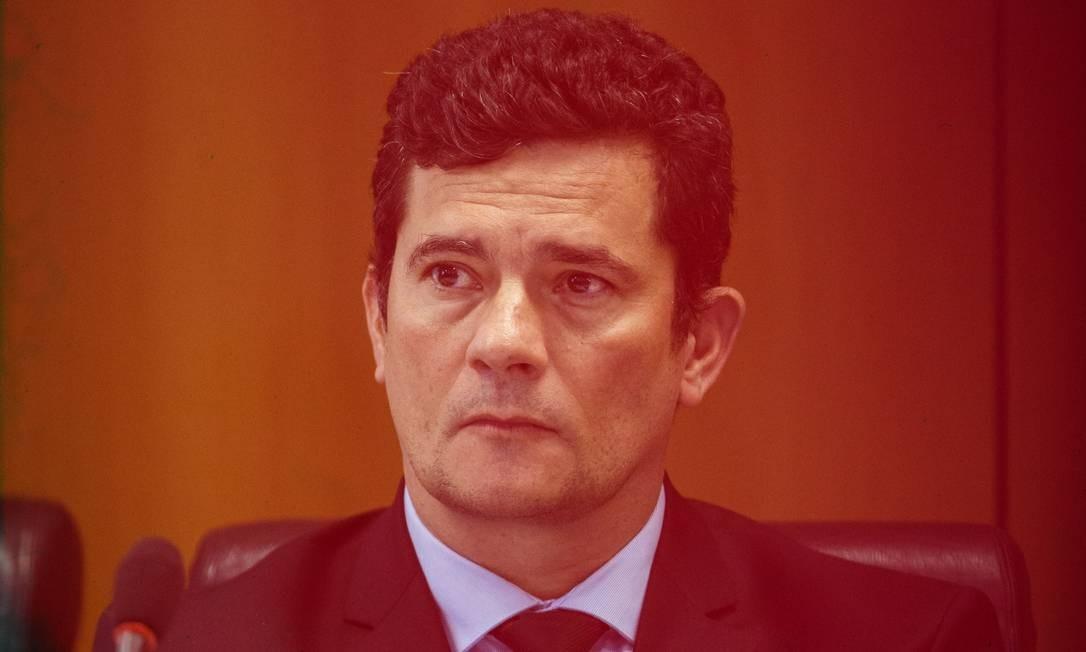 O ministro Sergio Moro, em Brasília Foto: Daniel Marenco / Agência O Globo