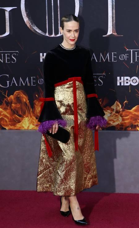 A atriz Sarah Paulson Foto: CAITLIN OCHS / REUTERS