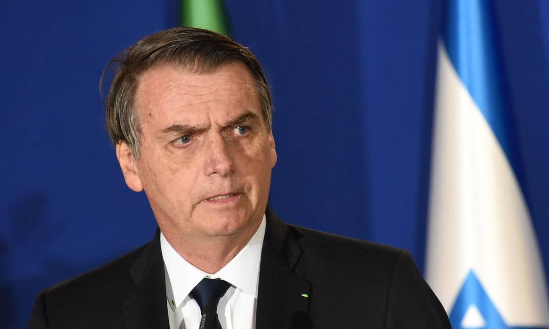 Brazilian President Jair Bolsonaro delivers a joint statement with Israeli Prime Minister Benjamin Netanyahu in Jerusalem March 31, 2019. Debbie Hill/Pool via REUTERS Foto: POOL / REUTERS