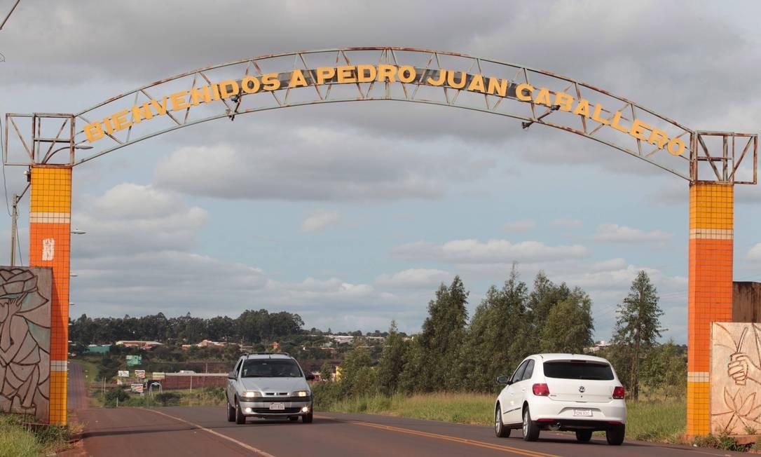 Bem vindos a Pedro Juan Caballero, a principal rota do tráfico de drogas entre Brasil e Paraguai Foto: Cléber Júnior / Agência O Globo