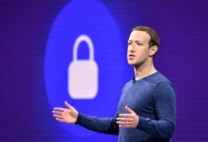 Mark Zuckerberg: ainda verificando o que causou vazamento. Foto: JOSH EDELSON / AFP