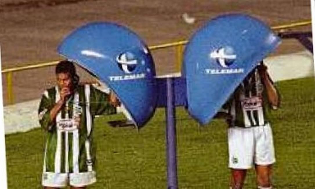 Jogador do Juventude comemora gol em 1999 Foto: Arquivo