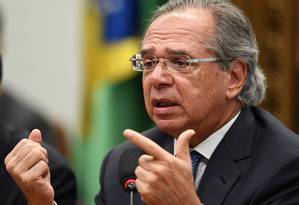O ministro da Economia,Paulo Guedes Foto: EVARISTO SA / AFP
