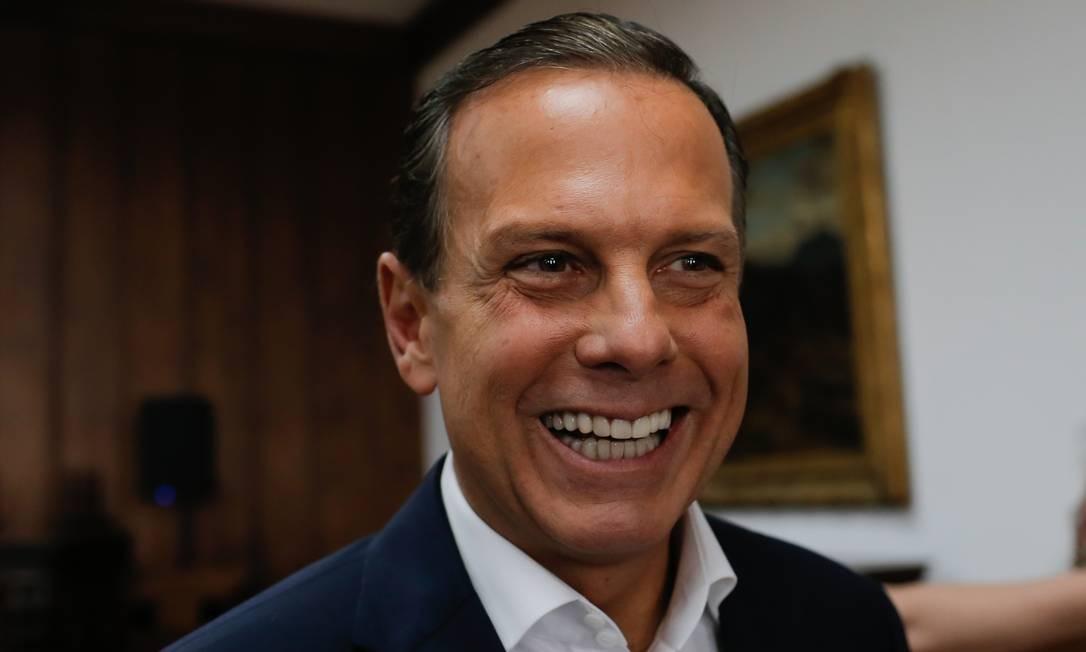 O governador de São Paulo, João Doria Foto: Edilson Dantas / Agência O Globo