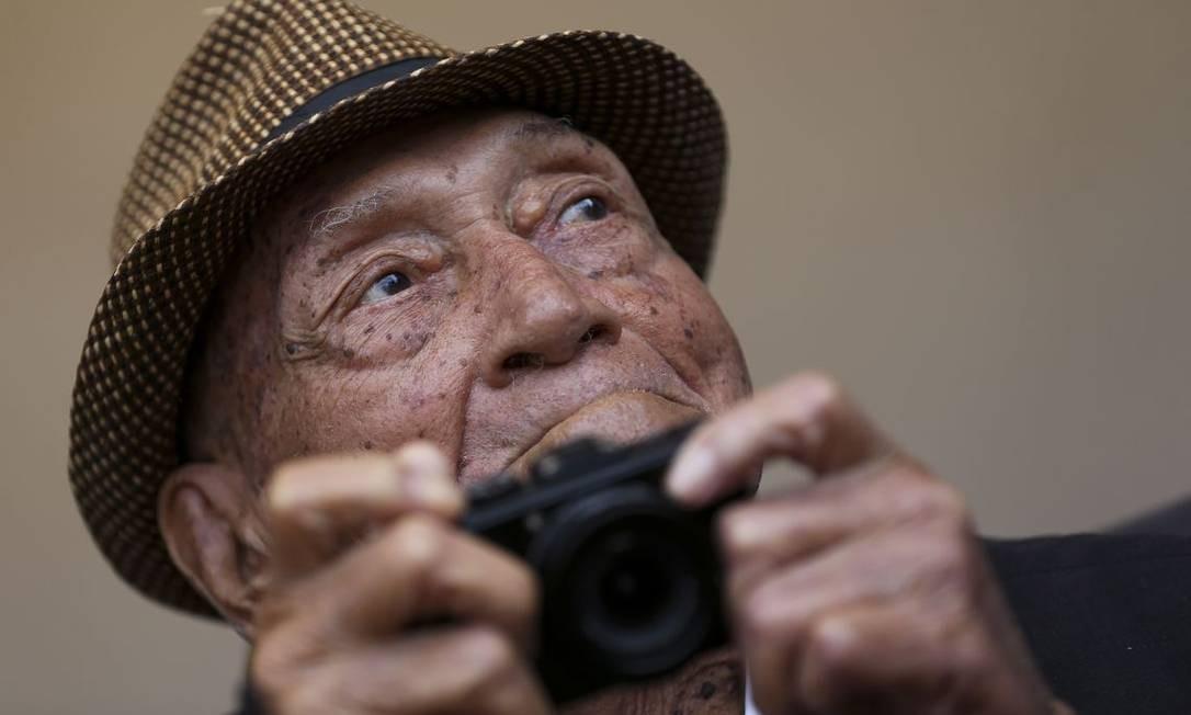 Morreu nesta sexta-feira, aos 96 anos, Gervásio Baptista, considerado uma lenda do fotojornalismo brasileiro, especialmente na cobertura política do país Foto: Marcelo Camargo / Agência Brasil