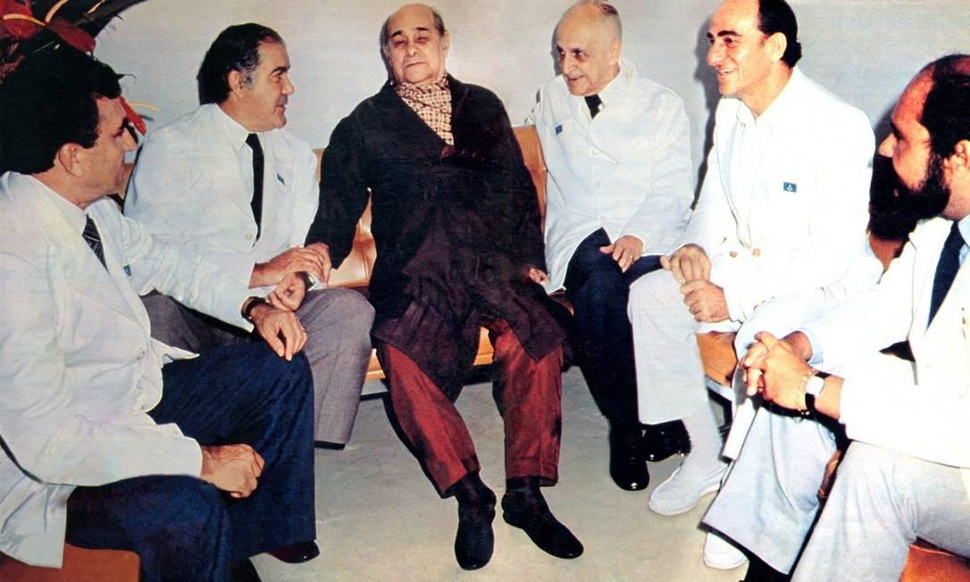 Tancredo Neves, em março de 1985. Foto feita por Gervásio é o último registro do presidente, no Hospital de Base do Distrito Federal, antes de sua morte Foto: Gervásio Baptista / Presidência