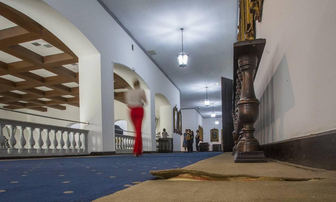 O governo Doria logoexplicouque nenhum tostão foi gasto para dar o banho de loja na antessala dele e no restante do palácio Foto: Edilson Dantas / Agência O Globo