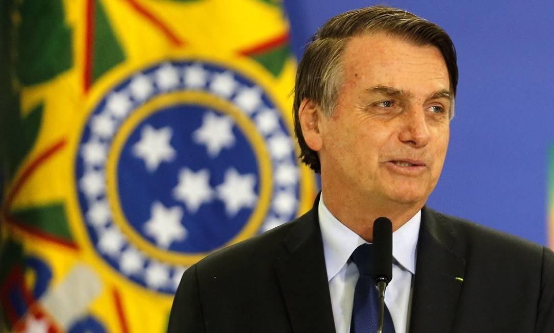 O presidente Jair Bolsonaro 05/04/2019 Foto: Jorge William / Agência O Globo