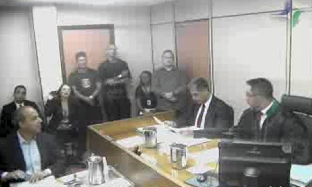 Ex-governador Sérgio Cabral presta depoimento ao Juiz Marcelo Bretas 04/04/2019 Foto: Reprodução