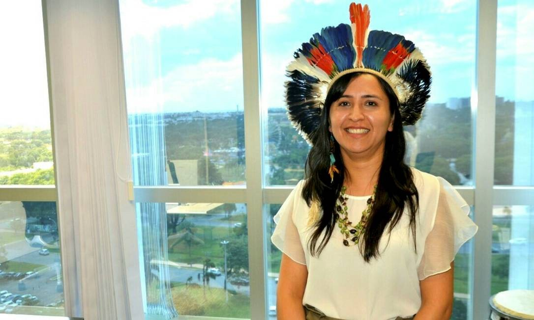 Sandra Terena, ex-secretária de Igualdade Racial Foto: Vagner Campos/Funai