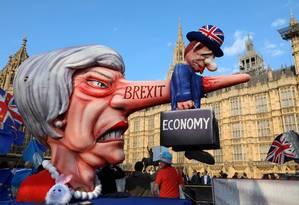 Manifestação contra o Brexit (Photo by ISABEL INFANTES / AFP) Foto: Isabel Infantes/AFP/1-2019