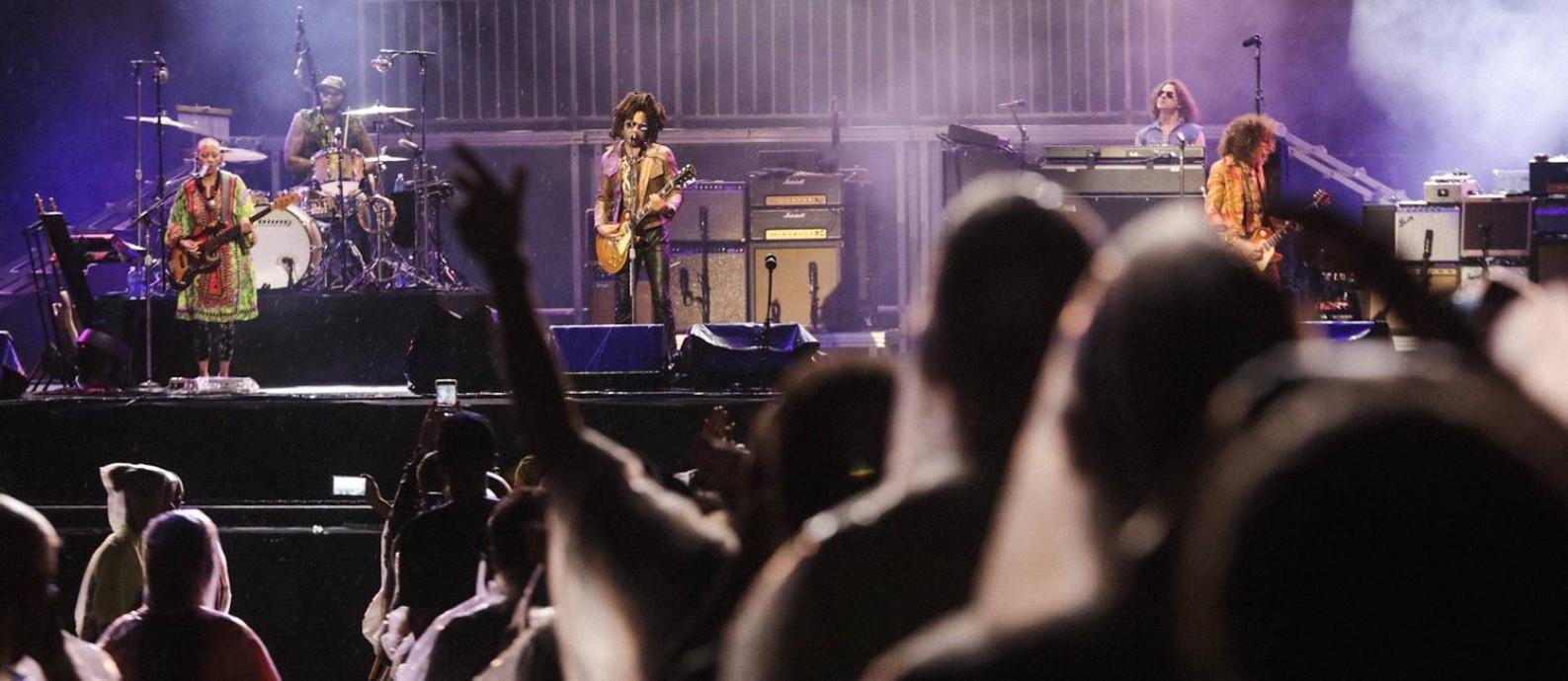 Lenny Kravitz levou os seus maiores hits para o palco Foto: Rodrigo Gianesi