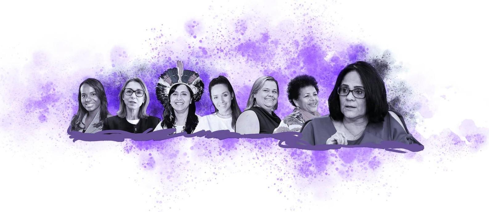 Equipe de mulheres conservadoras da equipe de Damares Alves Foto: Editoria de Arte