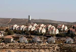 Assentamento israelense na Cisjordânia, em 2016 Foto: Baz Ratner/ Reuters