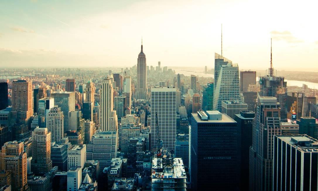 Vista de Nova York, única cidade dos Estados Unidos na lista do Knight Frank Foto: Pixabay