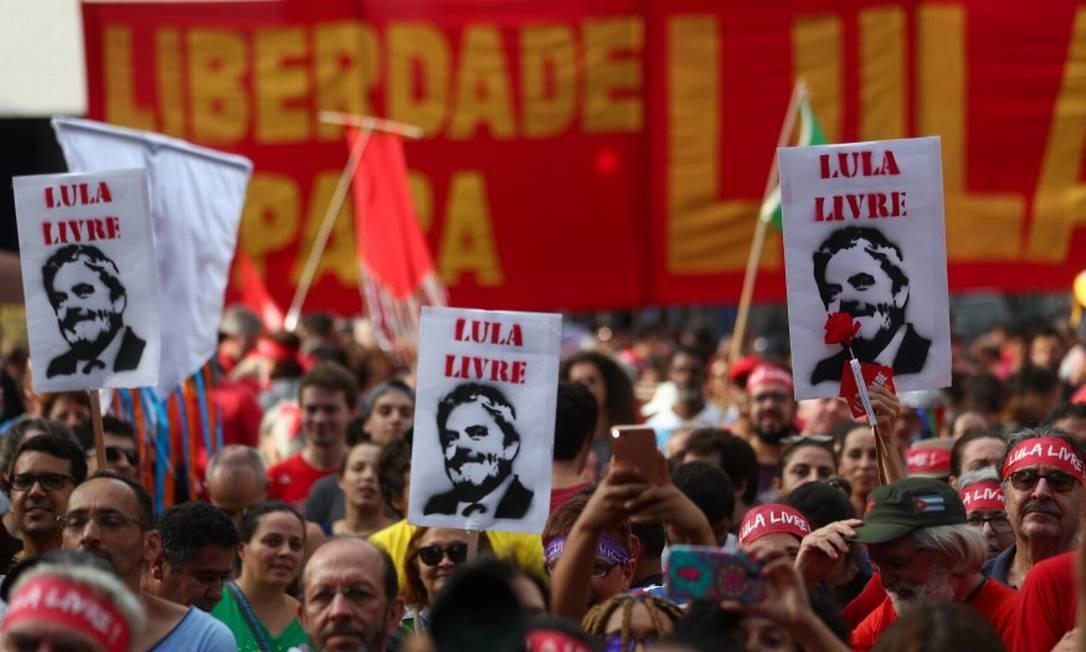 Ato pró-Lula em SP Foto: AMANDA PEROBELLI / REUTERS