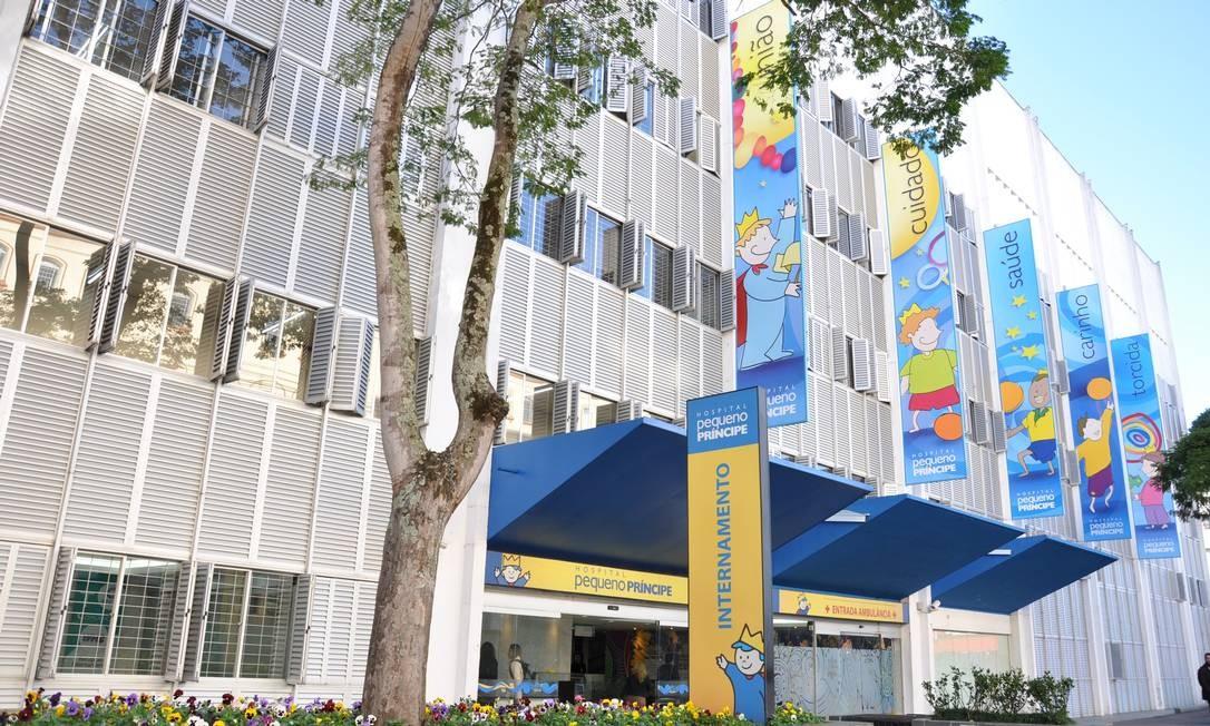 O Hospital Pequeno Príncipe, em Curitiba, recebe doações de pessoas físicas há mais de uma década Foto: Divulgação