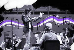 Erina Yashima será maestrina assistente na Orquestra da Filadélfia Foto: Foto de Todd Rosenberg com arte de Lari Arantes