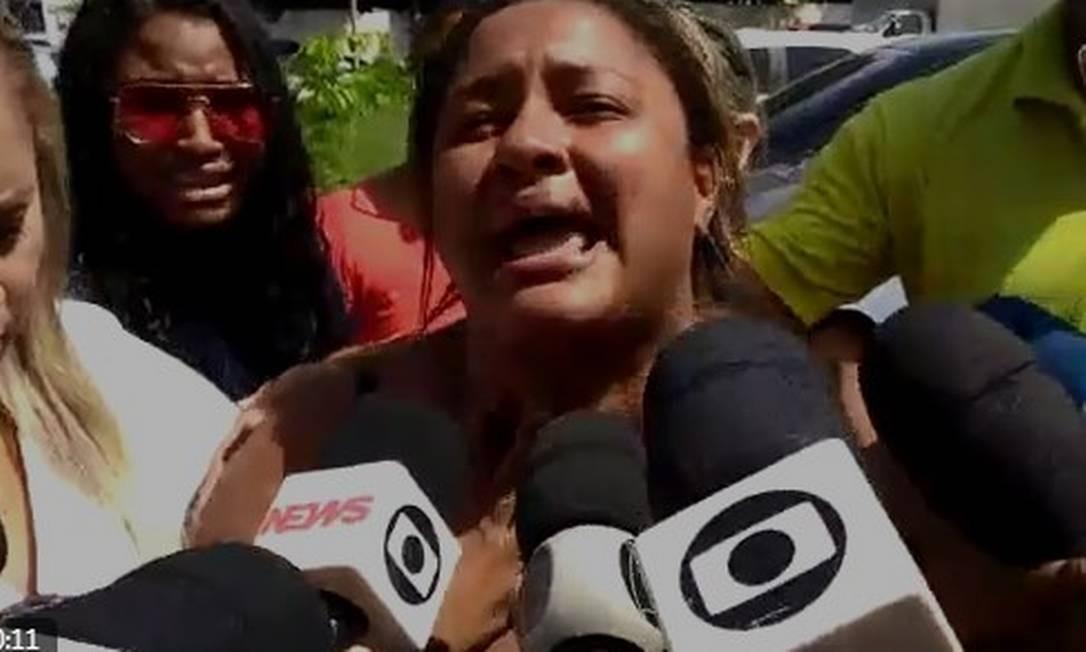 Luciana dos Santos Nogueira, mulher do músico Evaldo dos Santos Rosa, de 51 anos, assassinado por militares Foto: Reprodução